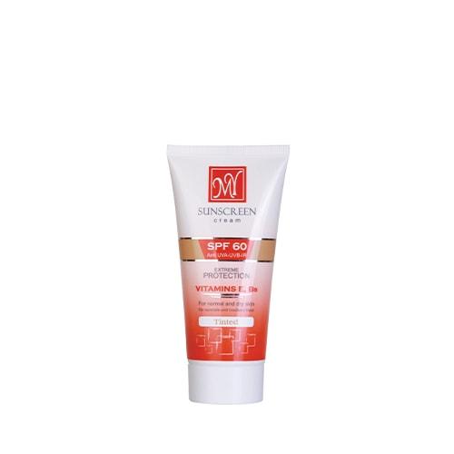 کرم ضد آفتاب رنگی فاقد چربی SPF 60 مای