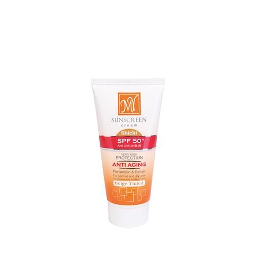 کرم ضد آفتاب رنگی بژ SPF 50 مای