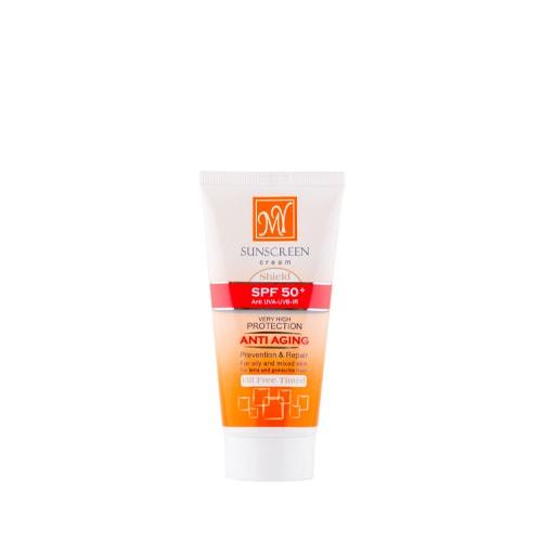کرم ضد آفتاب رنگی فاقد چربی SPF 50 مای